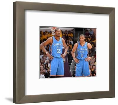 Mar 9, 2014, Oklahoma City Thunder vs Los Angeles Lakers - Kevin Durant, Russell Westbrook