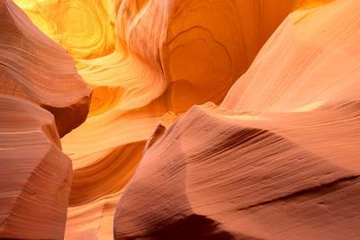 A sandstone abstract at the Lower Antelope Canyon.