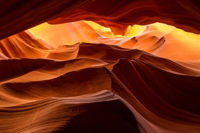 A sandstone abstract at the Upper Antelope Canyon.