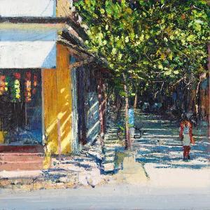 Dappled Street Pondicherry, 2017 by Andrew Gifford