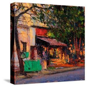 Shop in Last Light, Pondicherry, 2017 by Andrew Gifford