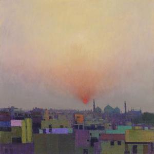 Sunset over Jama Masjid, Delhi II by Andrew Gifford