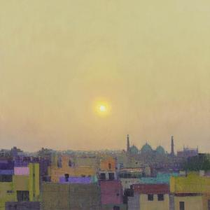 Sunset over the Jama Masjid, Delhi Study II by Andrew Gifford