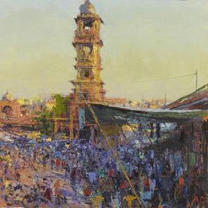 The Clock Tower, Last Light, Jodhpur by Andrew Gifford