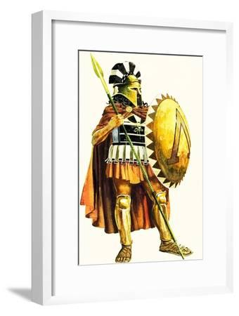 A Spartan Hoplite, or Heavy Armed Soldier