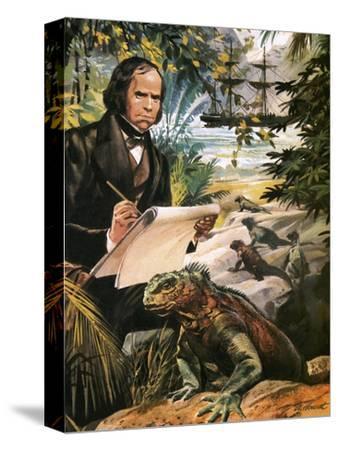 Charles Darwin on the Galapagos Islands