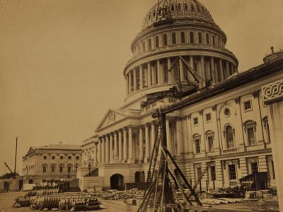 Capitol under Construction, Washington, D.C., c.1863