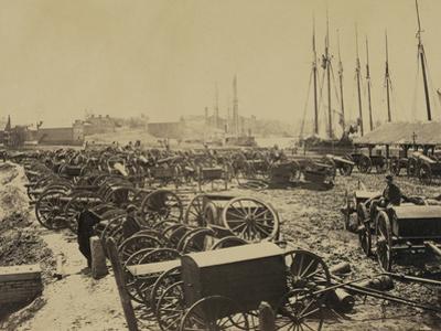 Captured Confederate Guns at Richmond, c.1865