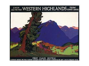 'Western Highlands - First Class Hotels - British Poster', c1926 by Andrew Johnson