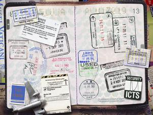 Passport with Stamps by Andrew Kolb