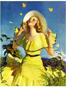 """Woman in Yellow,""June 15, 1935 by Andrew Loomis"