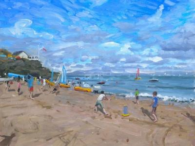 Beach Cricket, Abersoch, 2013 by Andrew Macara