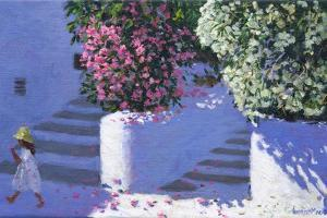 Bougainvillea, Anandas, Milos, Greek Islands by Andrew Macara