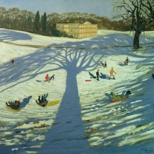 Calke Abbey House, Winter, 2002 by Andrew Macara