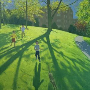 Children Running in the Park, Derby, 2002 by Andrew Macara