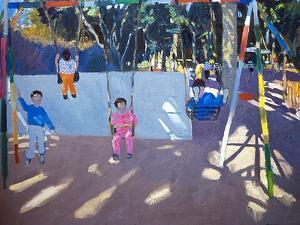Children Swinging, 1996 by Andrew Macara