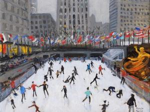 Christmas Skating, Rockerfeller Ice Rink, New York, 2017 by Andrew Macara