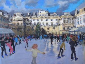 Christmas skating, Somerset House by Andrew Macara