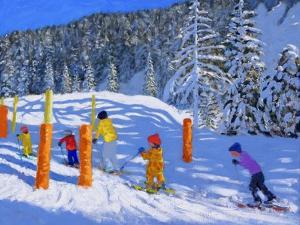 Colourful Skiing, Les Arcs, France, 2018 by Andrew Macara