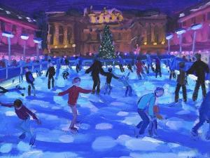Evening skaters, Somerset House by Andrew Macara