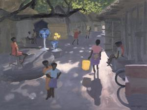 Fan Seller, Malindi, Kenya, 1995 by Andrew Macara