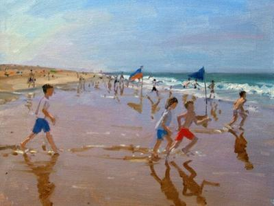 Flags and Reflections, Montalivet by Andrew Macara
