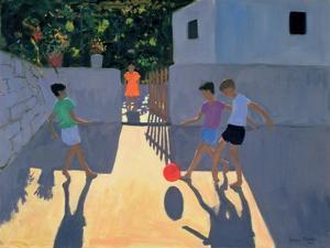Footballers, Kos, 1993 by Andrew Macara