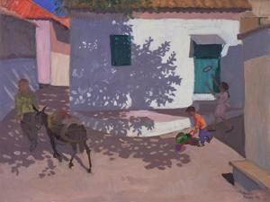 Green Door and Shadows, Lesbos, 1996 by Andrew Macara
