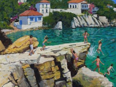 Jumping into the Sea, Plates , Skiathos, 2015