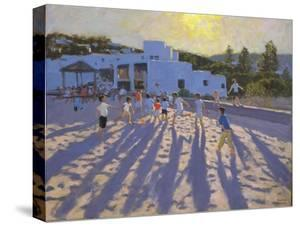 Late Afternoon Football, Ornos, Mykonos by Andrew Macara