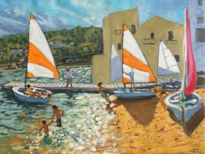 Launching Boats, Calella De Palafrugell, Spain by Andrew Macara