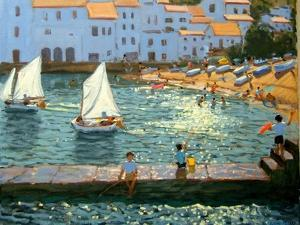Sailboats, Cadaques, Costa Brava by Andrew Macara
