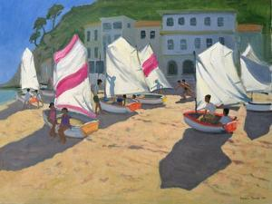 Sailboats, Costa Brava, 1999 by Andrew Macara