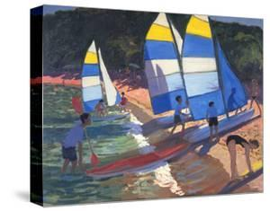 Sailboats, South of France, 1995 by Andrew Macara
