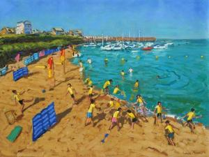 School Outing, New Quay,Wales, 2013 by Andrew Macara