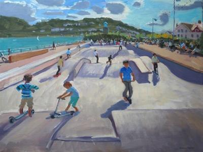 Skateboaders, Teignmouth, 2012 by Andrew Macara