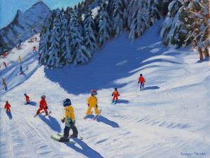 Ski School, Morzine, 2015 by Andrew Macara