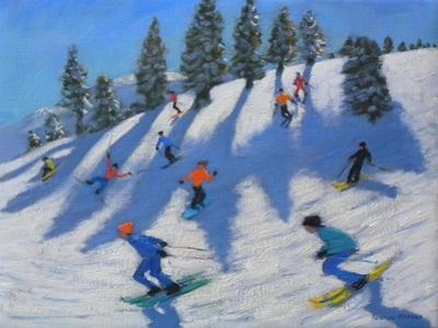 Skiers, Lofer, 2010 by Andrew Macara