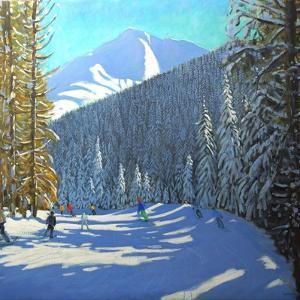 Skiing, Beauregard La Clusaz, 2012 by Andrew Macara