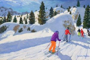 Skiing, Rock City, Selva Gardena, Italy, 2016 by Andrew Macara