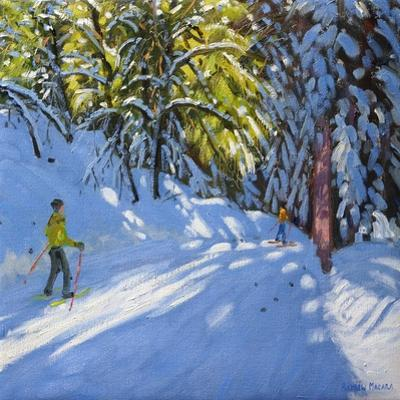 Skiing Through the Woods, La Clusaz, 2012 by Andrew Macara