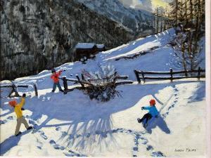 Snowballers, Zermatt by Andrew Macara
