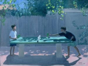 Table Tennis, France, 1996 by Andrew Macara