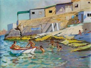 The Rowing Boat, Valetta, Malta, 2015 by Andrew Macara