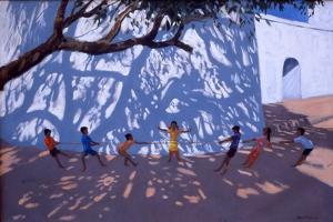 Tug of War, Gujarat, India, 2001 by Andrew Macara