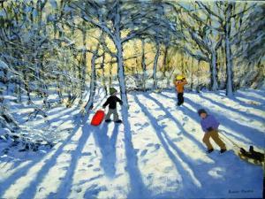 Woodland in Winter, Near Ashbourne, Derbyshire by Andrew Macara