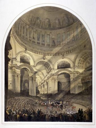 St Paul's Cathedral Interior, London, C1852