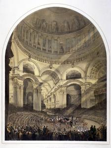 St Paul's Cathedral Interior, London, C1852 by Andrew Maclure