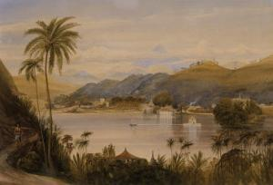 The Temple of the Tooth, Kandy, Ceylon, c.1852 by Andrew Nicholl