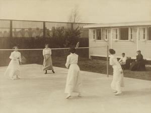 Badminton at Riposo, 20th Century by Andrew Pitcairn-knowles